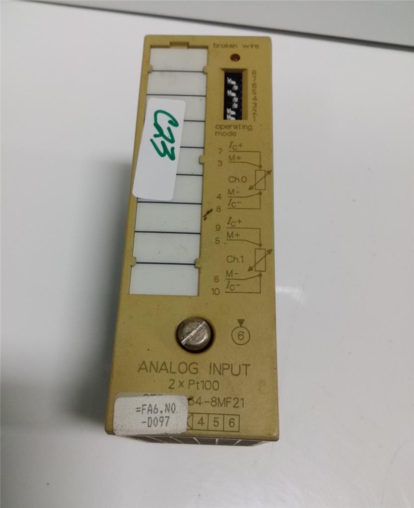 SIEMENS 6ES5 464-8MF21 SIMATIC S5 6ES5464-8MF21 ANALOG INPUT 2XPT100 MODULE