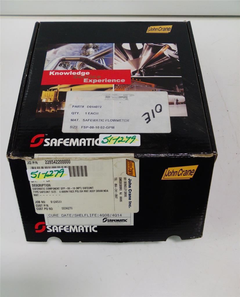 Safematic flowmeter sfp npt nib ebay