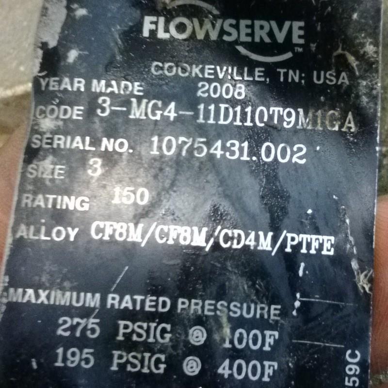 "DURCO FLOWSERVE 3"" 3-WAY VALVE 3-MG4-11D110T9M1GA | eBay"