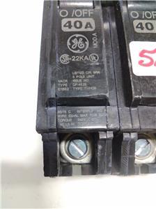 ge circuit breaker 40amp 3 pole hacr e11592 dp-4525 thhqb ... jaguar e type 4 2 wiring diagram type hacr e11592 wiring diagram
