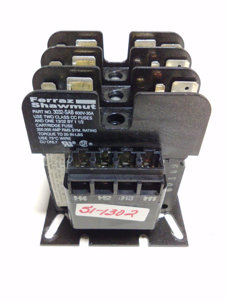 Allen Bradley Transformer 1497 B Basx 3 N W Ferraz Shawmut Fuse Box Cartridge Holder 3032 Sab