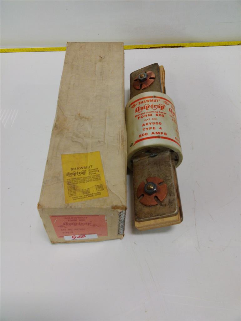 Shawmut Amp Trap Form 600 800amp Fuse A6y800 Ebay Box