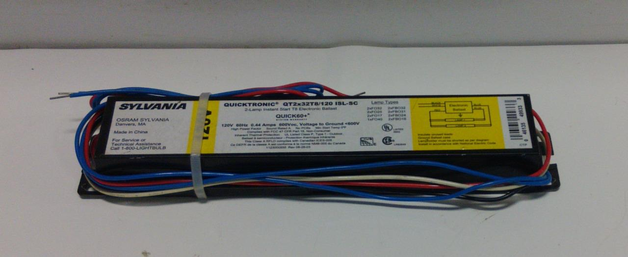 Sylvania QT2x32T8//120 Quicktronic 2-Lamp Electronic Ballast Instant Start ISL-SC