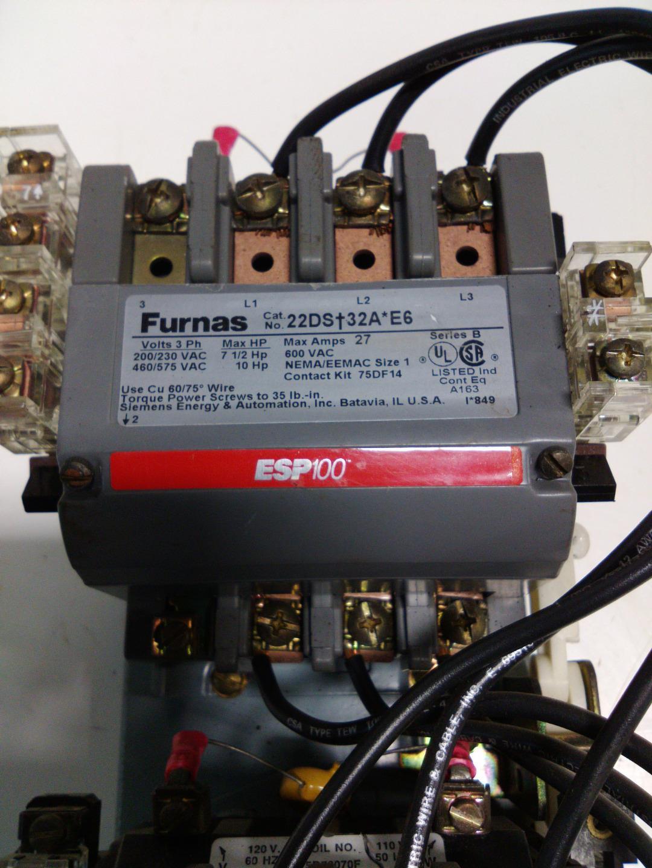 FURNAS 14CS+32A SER.B NEMA//EEMAC SIZE 0 STARTER 48ASD3M20 SER.B OVERLOAD RELAY