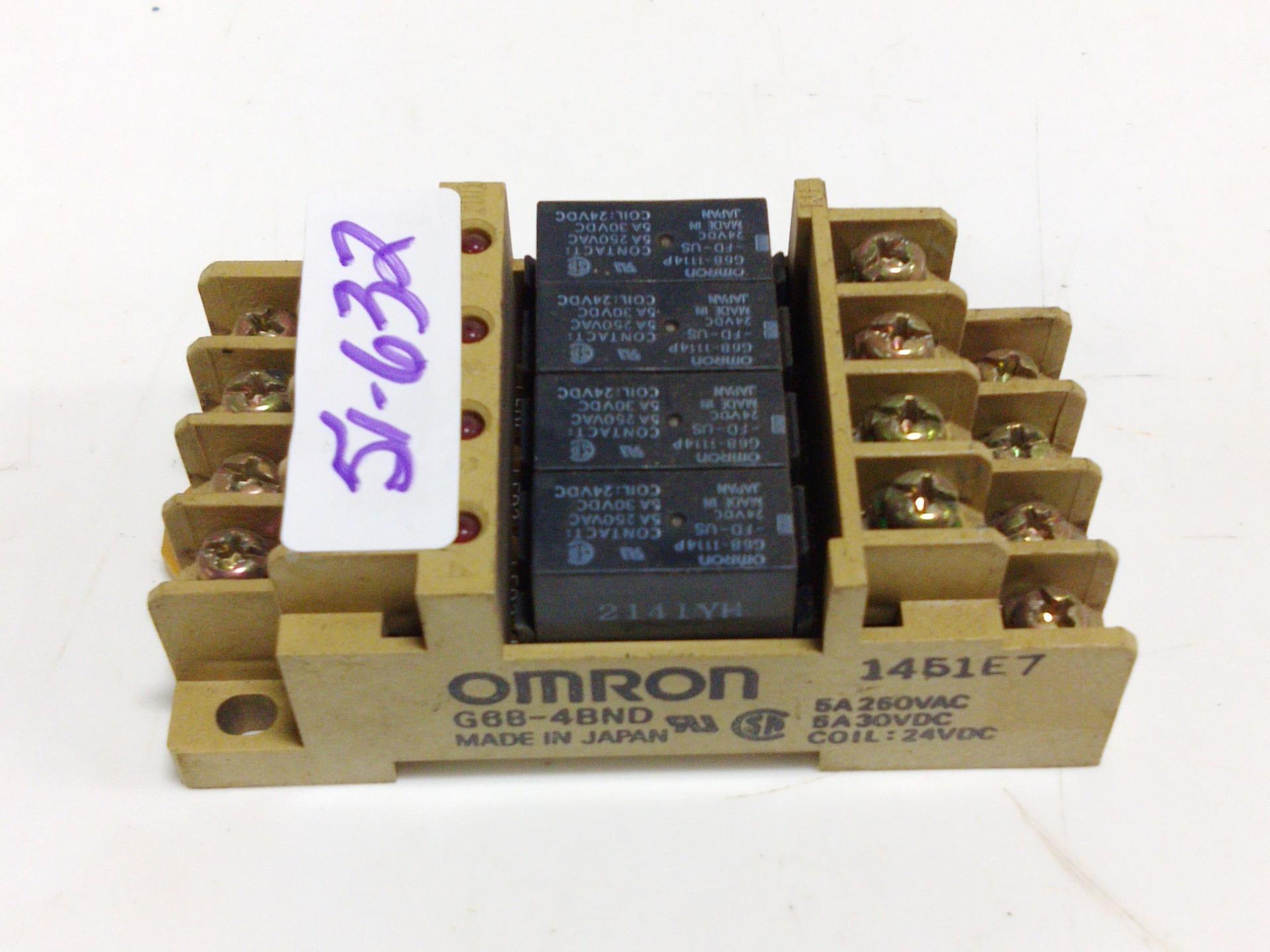 Omron 5a 250vac Coil 24vdc Relay Block G6b