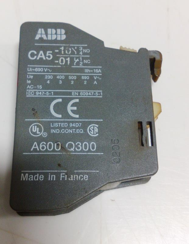 abb ca5 auxiliary contact block a600 q300 ebay