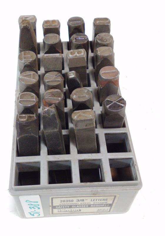"1//4/"" x 2-3//8/"" CH Hanson 20200 Standard High Quality Letter Stamp Set 27"