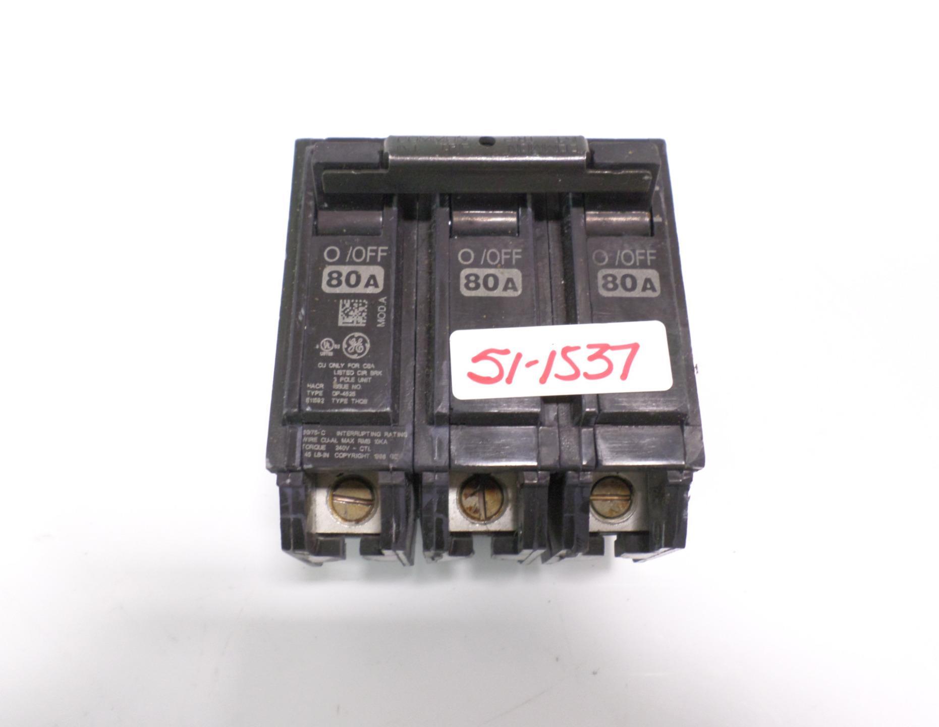 GE Circuit Breaker Cat #E11592 20A 277 VAC SWD HACR 125 VDC 1 Pole NEW