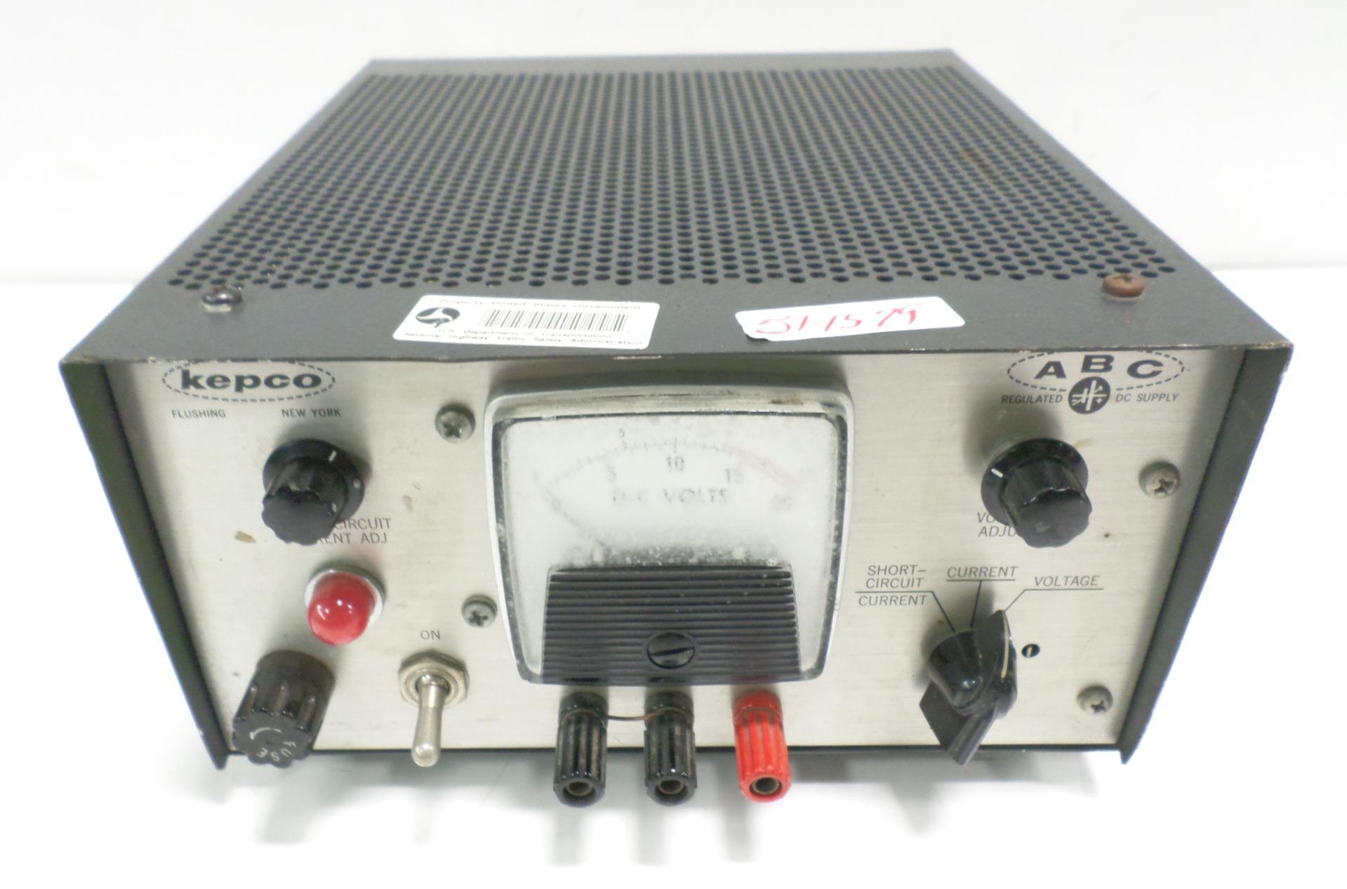Kepco 0 15v 1a Regulated Dc Power Supply Abc 15 1 Ebay