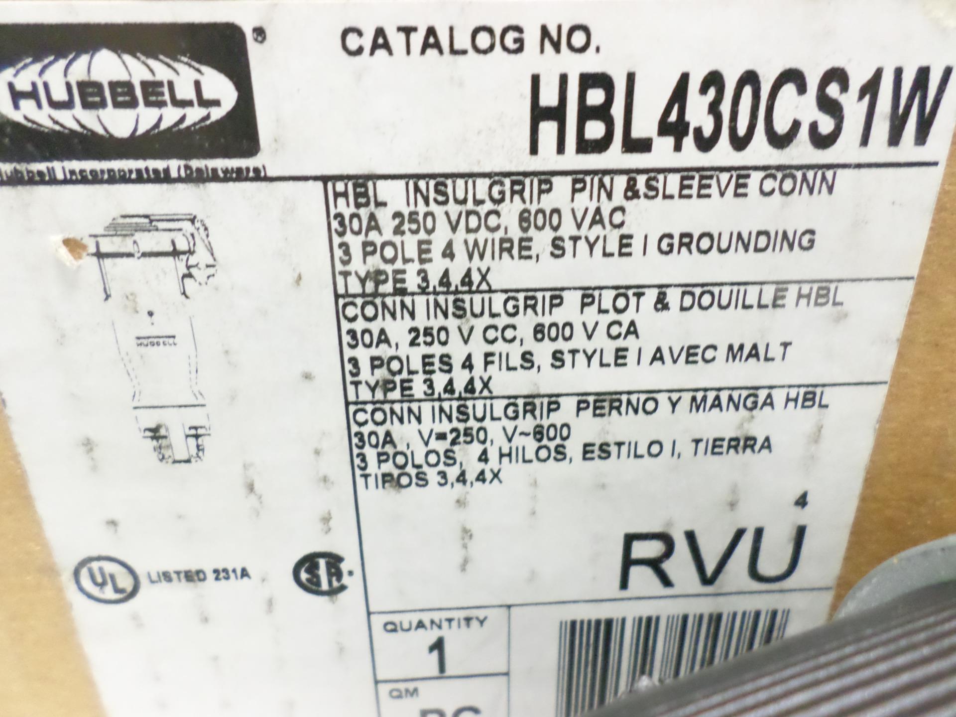 Hubbell Wiring Device Pin Sleeve Connector 30a Hbl430cs1w Nib Ebay Catalog Lsjch08262016 Shelf51 15321 Jobcodeham72116 Lsjch08272016 15322