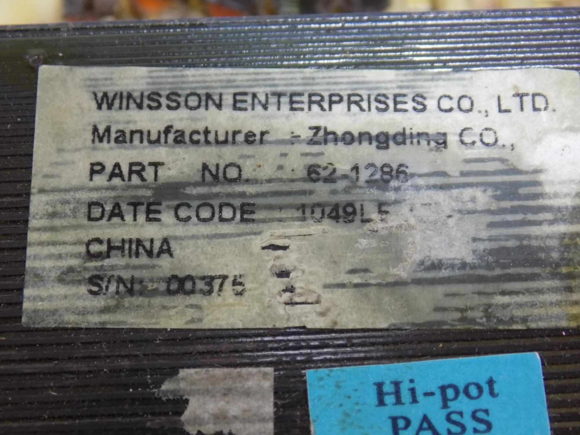 Power Transformer #62-1256 see description WINSSON ZHONGAING