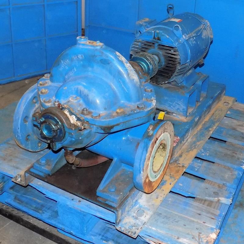 Details about STERLING PEERLESS PUMP SPLIT CASE PUMP MODEL 4AE11 W/ US  MOTORS 15HP MOTOR T593A