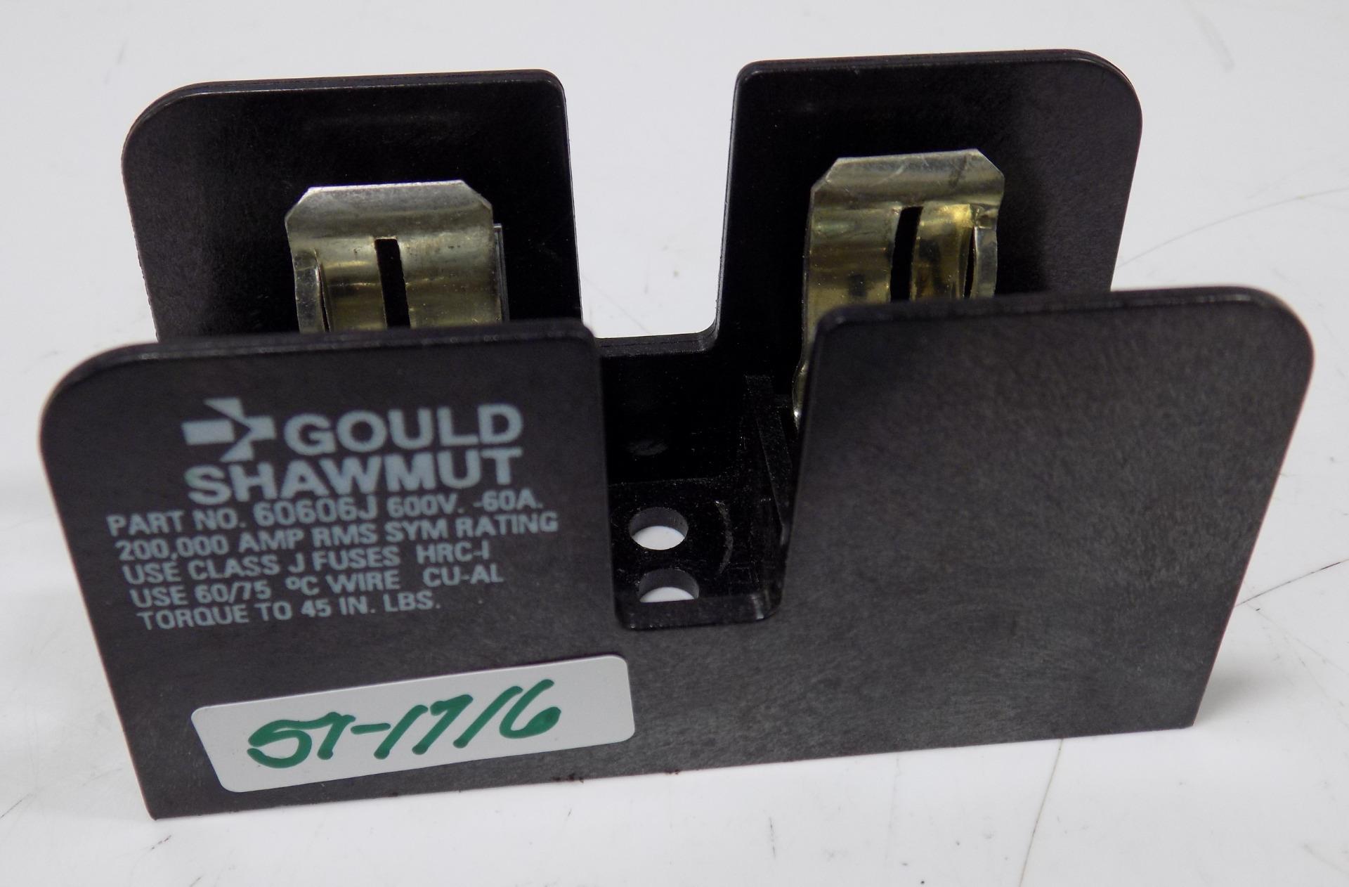 FUSE BLOCK,60A,600V,GOULD SHAWMUT #60606R