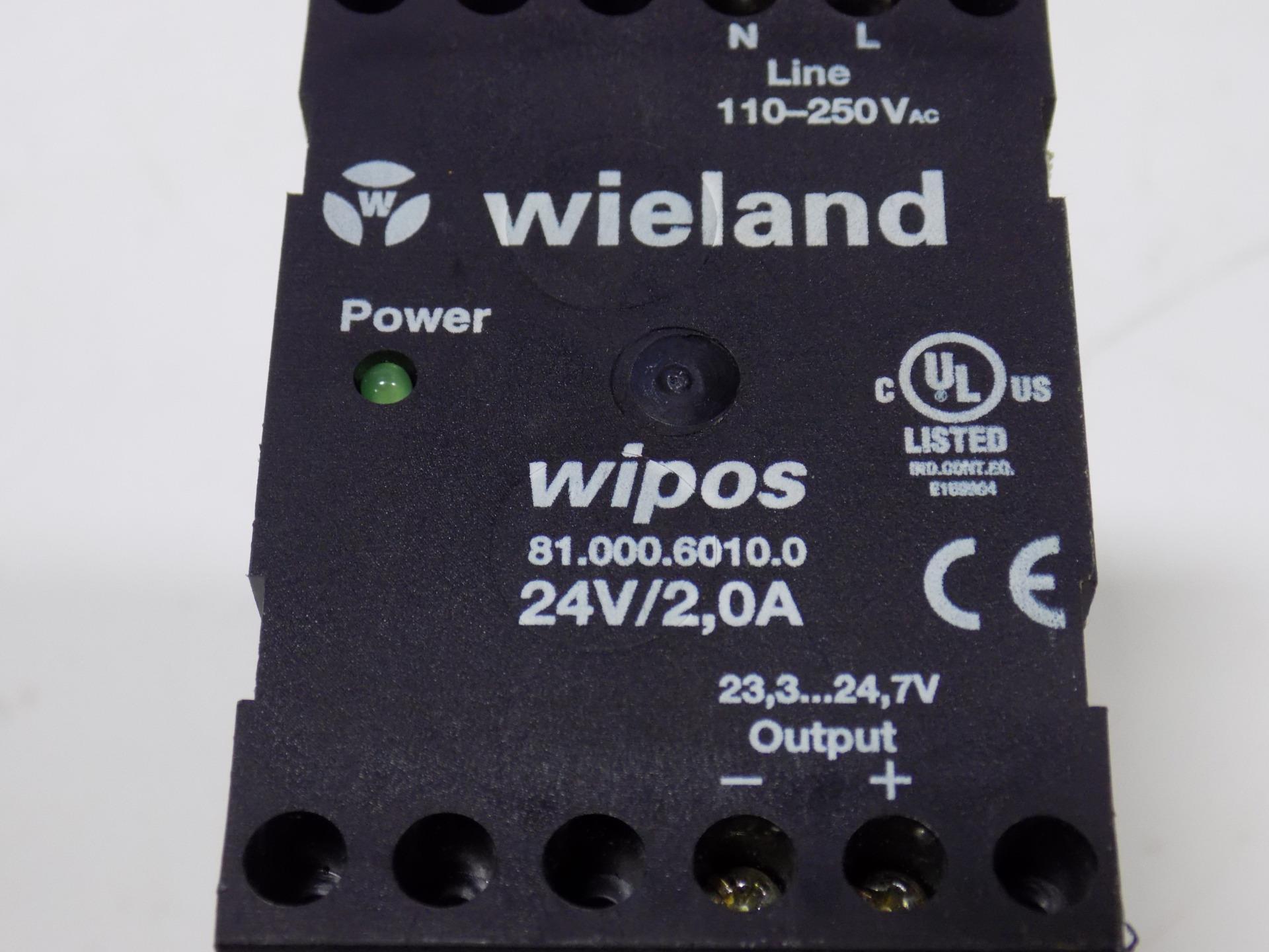 WIELAND WIPOS 24V20A POWER SUPPLY 8100060100 A