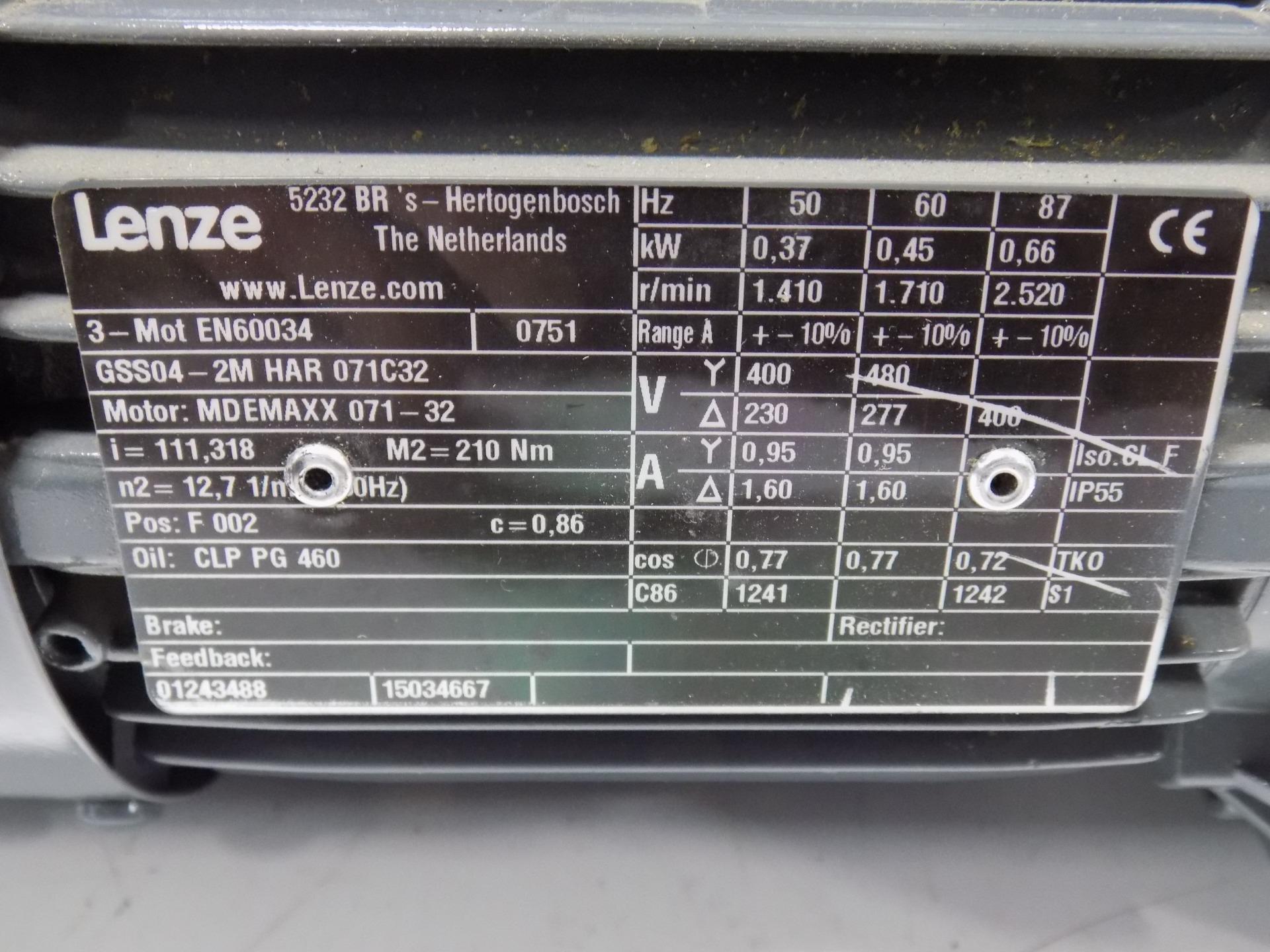 Lenze Motor W Gearbox 3 Mot En60034 Gss04 2m Har 071c32