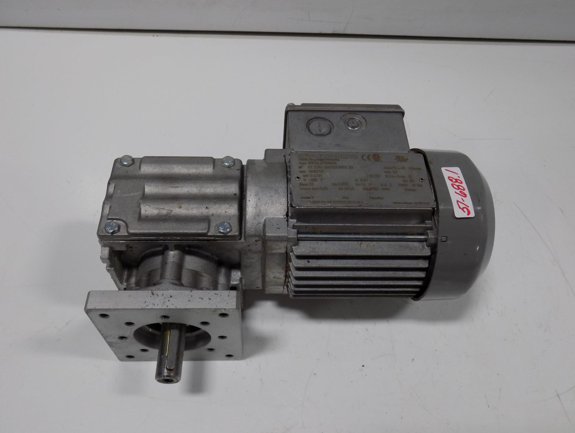 Sew Eurodrive Gear Motor 3 Phase Wf10dt56m4 Ebay
