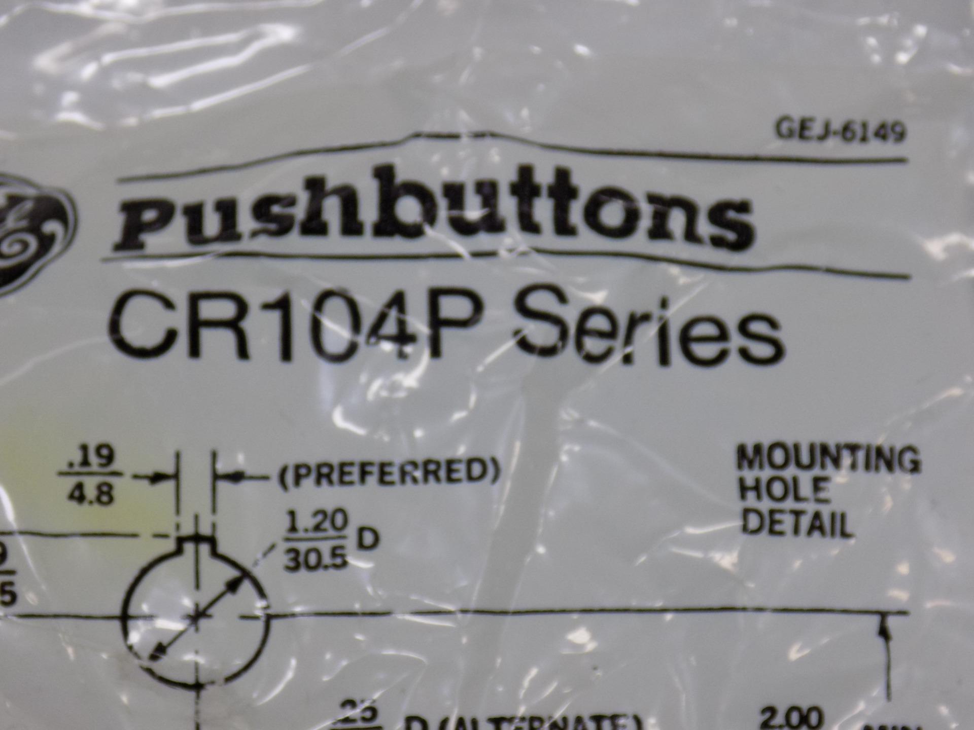 general electric heavy duty oiltight pushbutton  4 color  cr104pbg00u1 nib  pzf