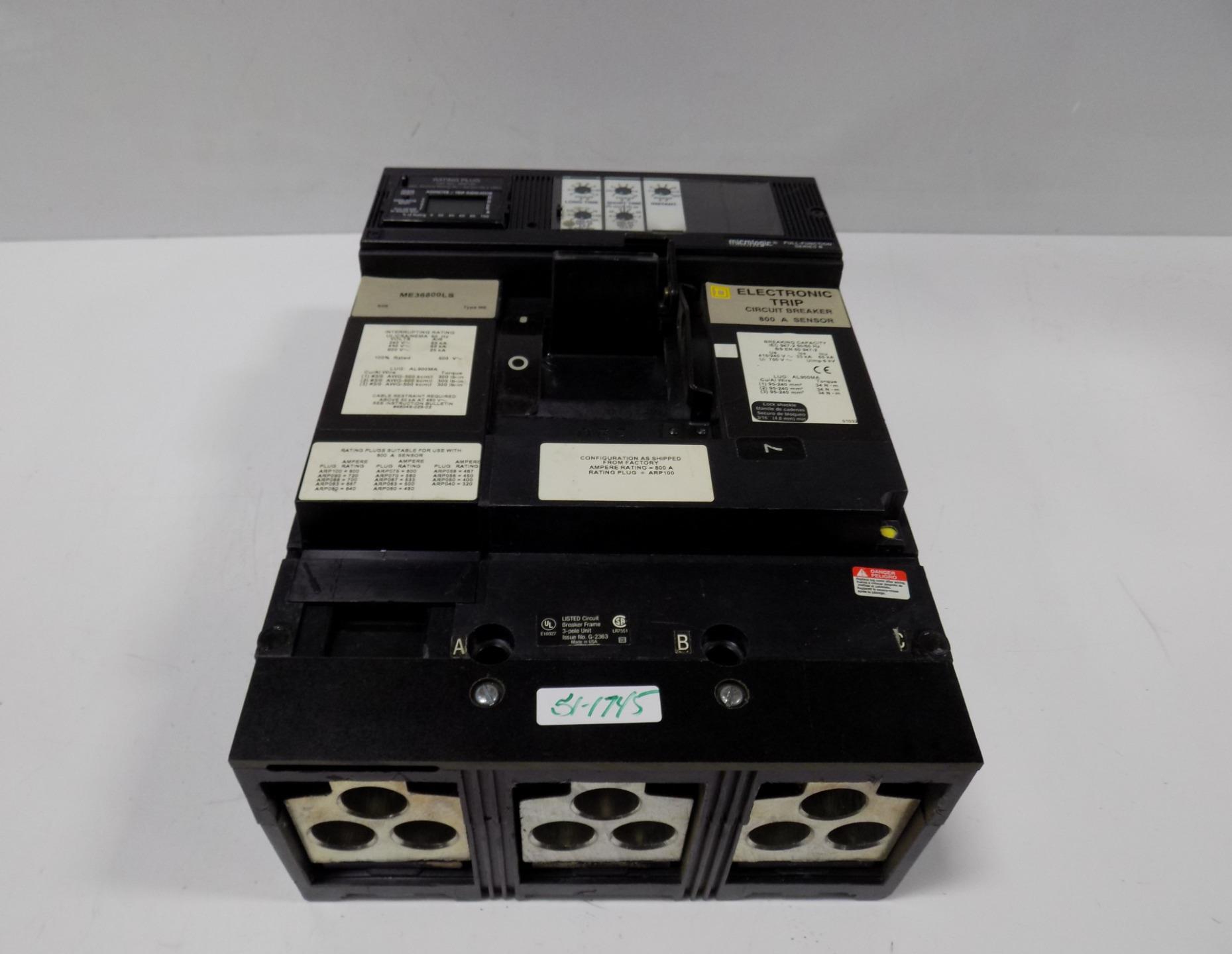 Square D 800amp Electronic Trip Circuit Breaker Me36800ls Ebay Trippingcircuitbreakerpaneljpg