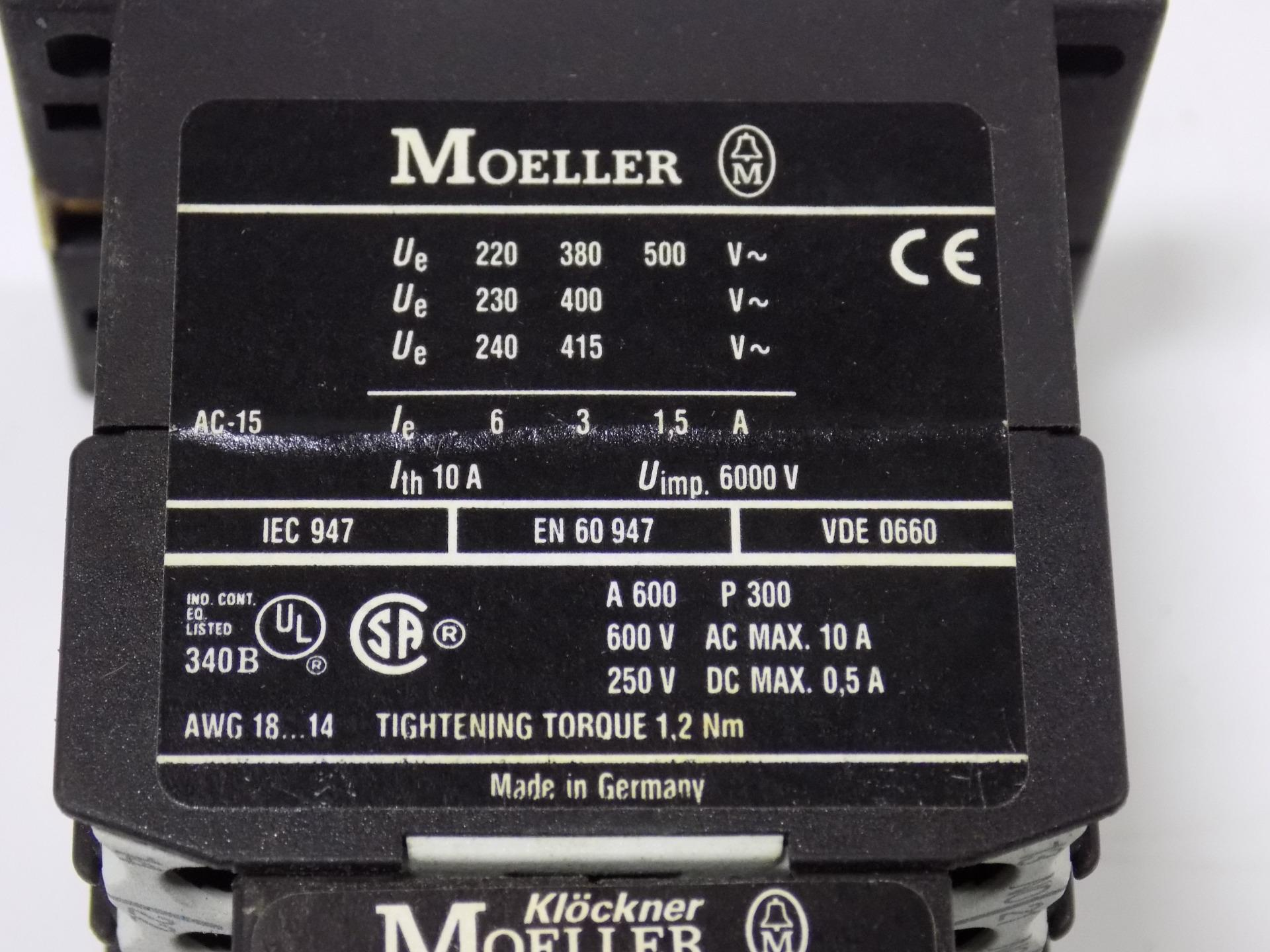 Moeller Auxiliary Contact Module 20 Dil E Ebay