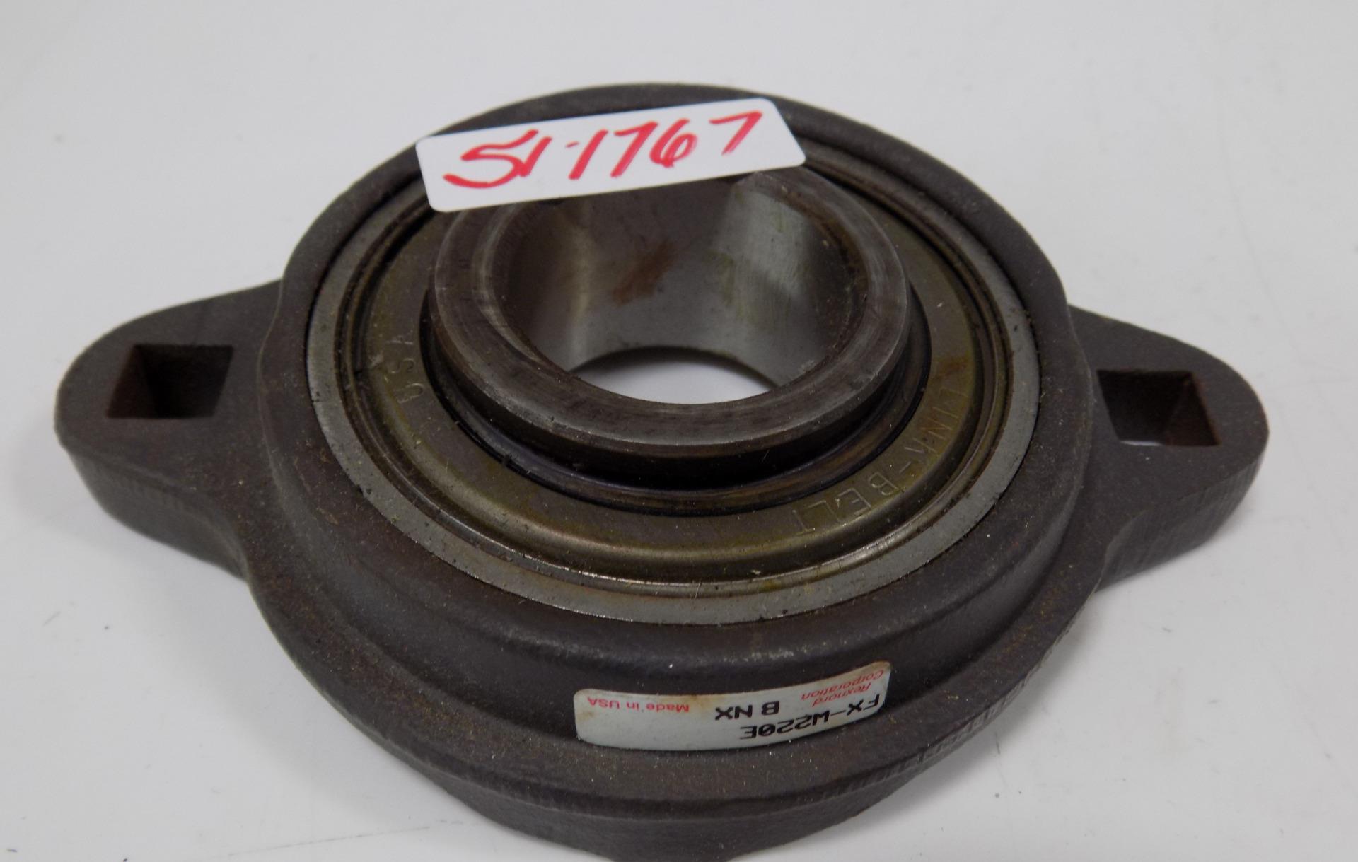 "New Rexnord Link-Belt FX3S219E 1-3//16/"" Flange-Mount Two-Bolt Ball Bearing Unit"