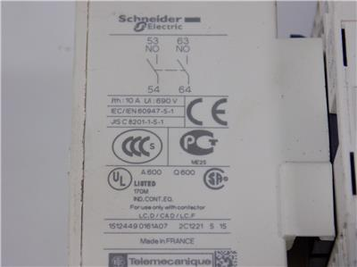 Schneider Electric Auxiliary Contact Block LADN203