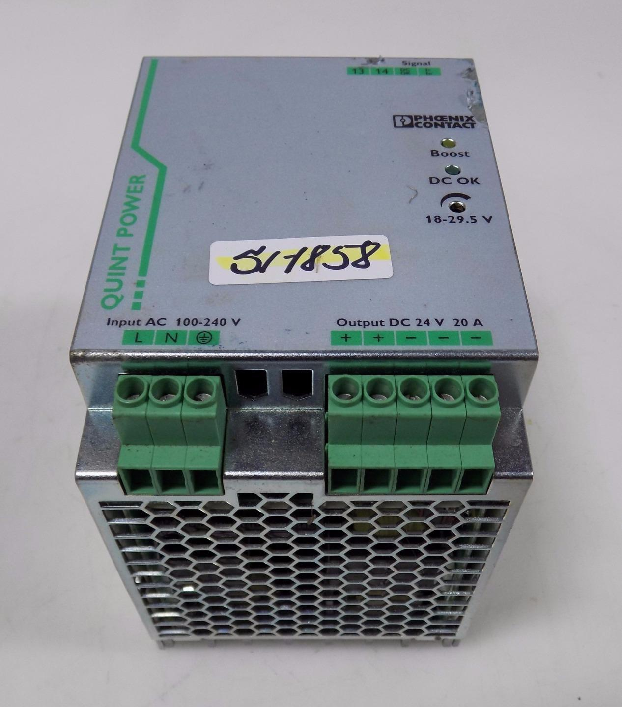 phoenix contact power supply quint ps 1ac 24dc 20 ebay rh ebay com Extruded Aluminum Enclosures Aluminum Enclosures