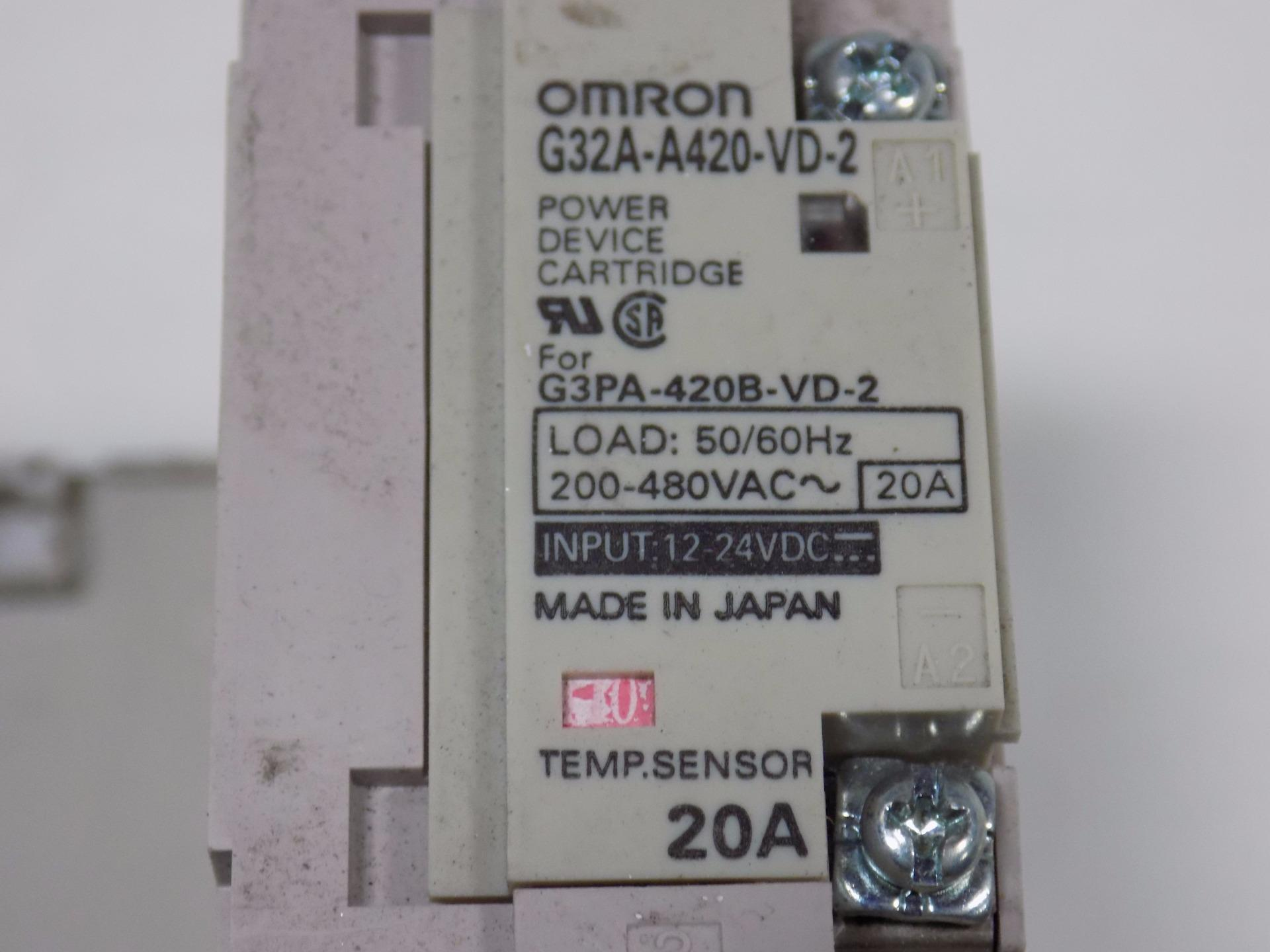 OMRON g3pa-420b-vd-2 20a Solid State Relay