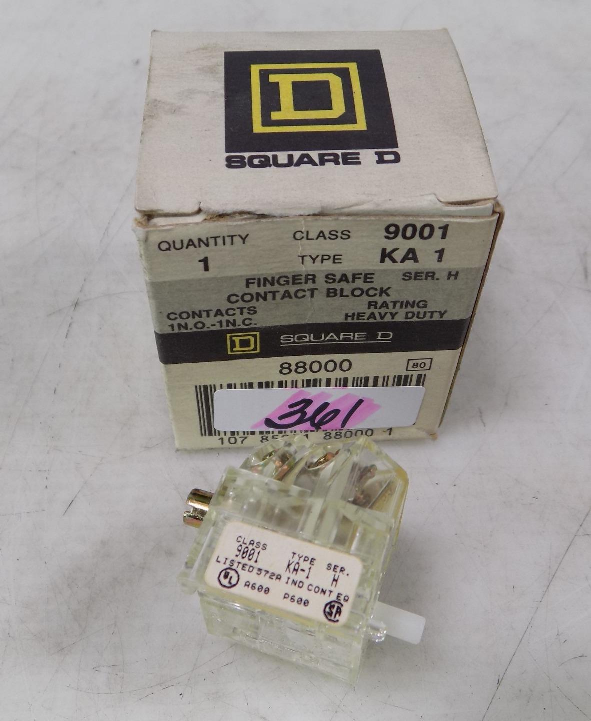 4 SQUARE D 9001-KA1 CONTACT BLOCK LOT OF 4