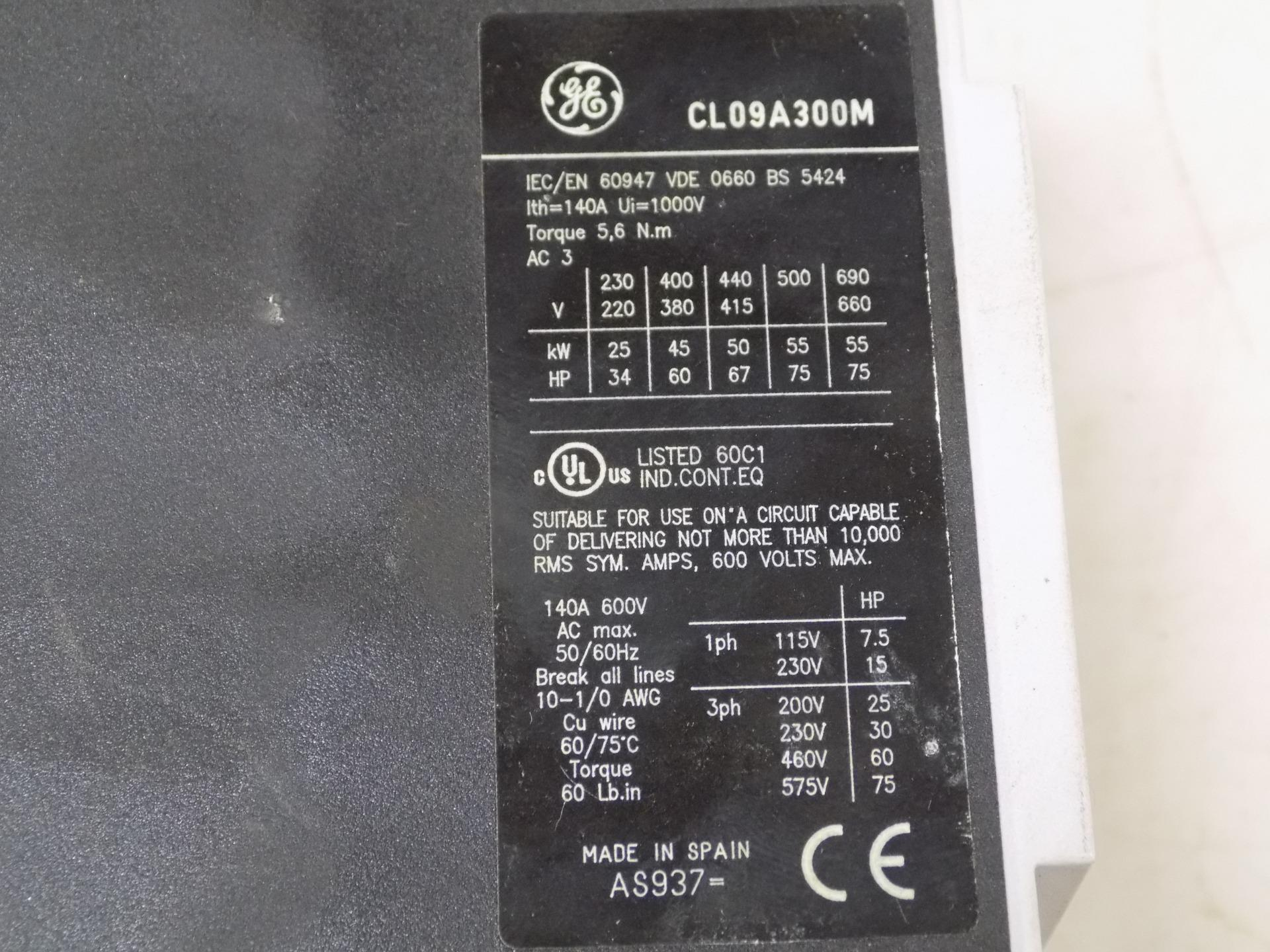 Ge 140a 3 Pole Contactor Cl09a300m Ebay 230v Phase Wiring