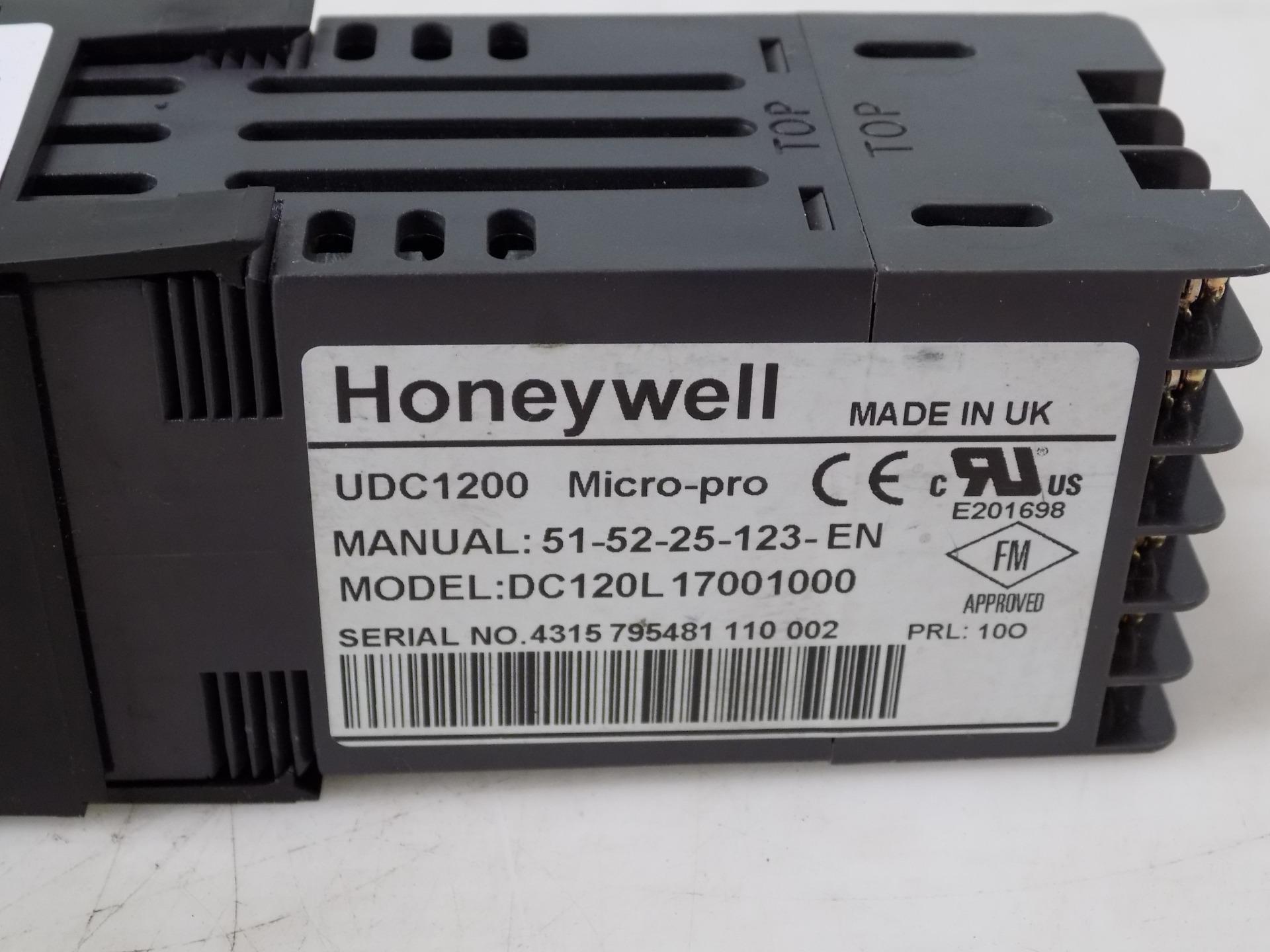 honeywell udc1200 micro pro temperature controller dc120l17001000 ebay rh ebay com Honeywell Thermostat Programming Manual Honeywell Pro 8000 Thermostat Manual