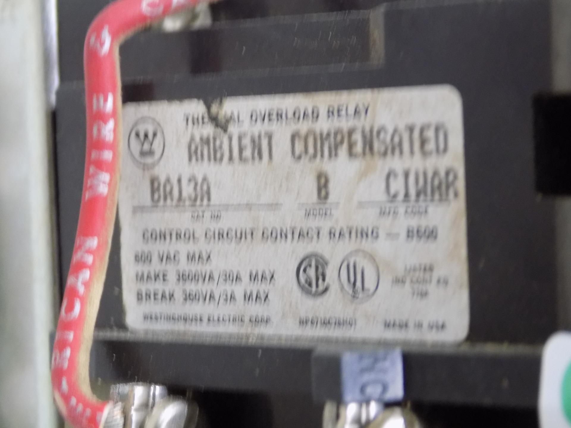 WESTINGHOUSE A200M1CAC MOTOR STARTER MODEL J  W//BA13A THERMAL OVERLOAD RELAY