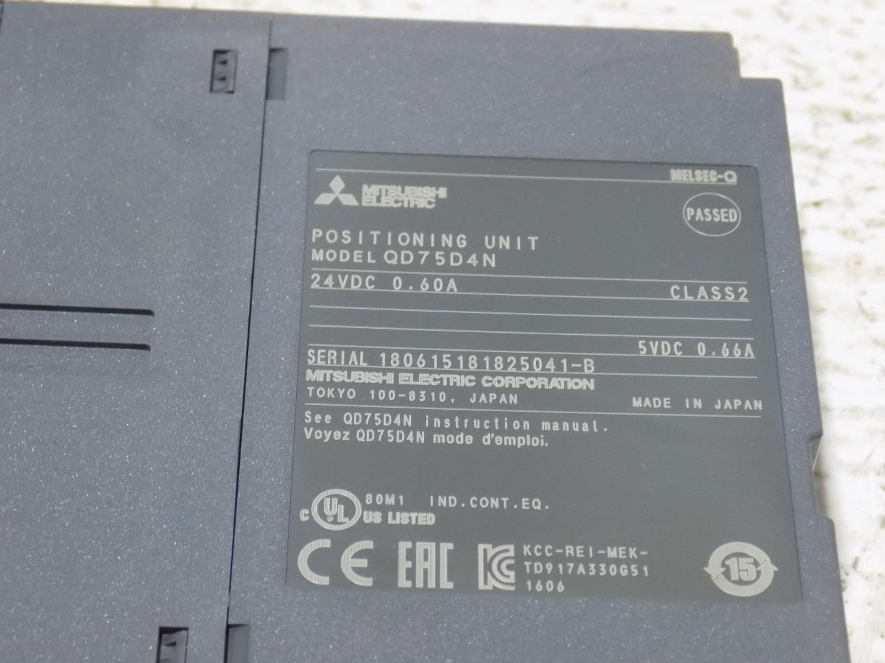PLC Processors MITSUBISHI POSITIONING UNIT QD75D4N Business ...