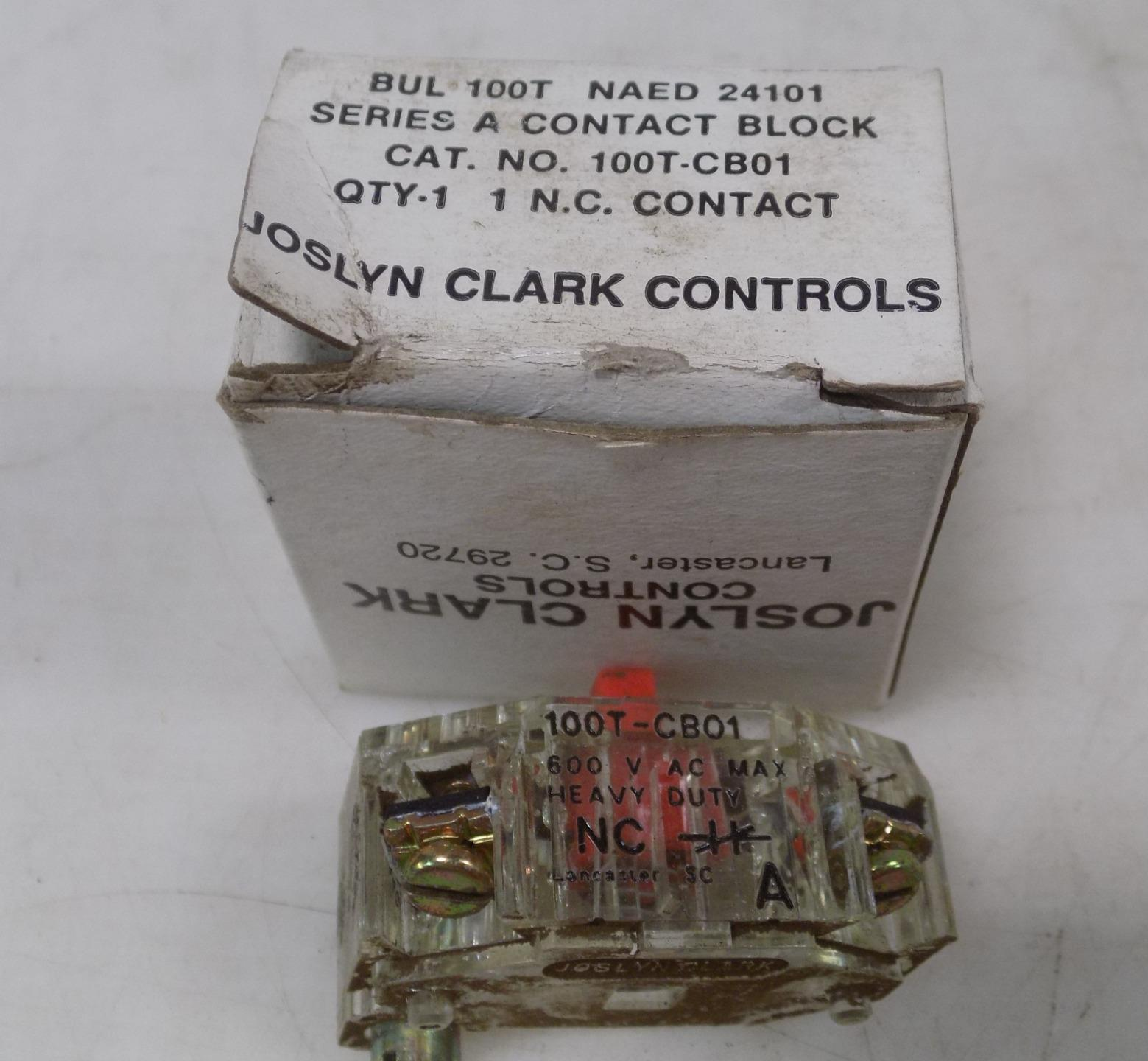 Joslyn Clark BUL 100T-CB01 Series A Contact NAED 24101 N.C Contact NEW