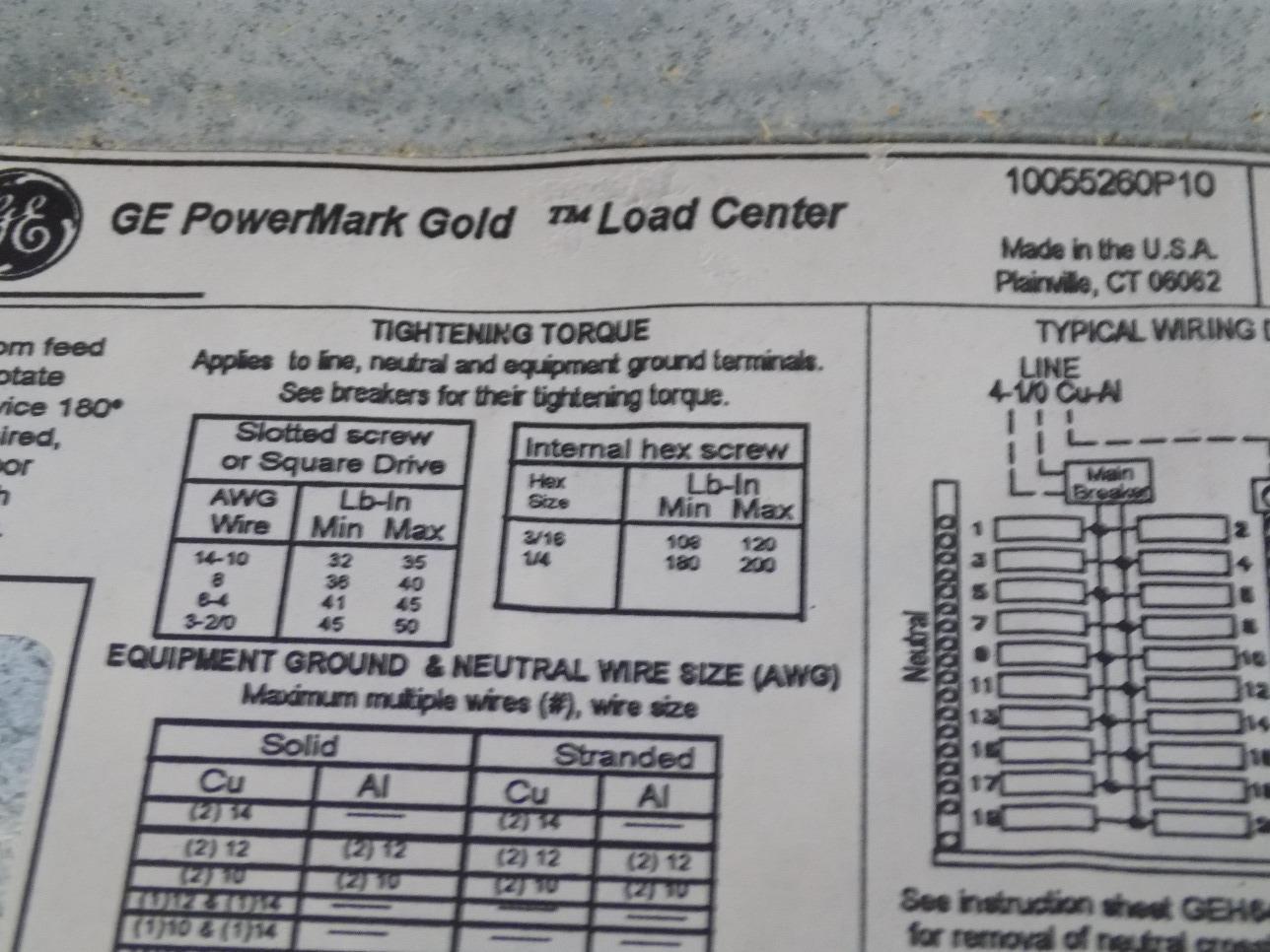 Ge 1 phase 100amp main breaker load center pro line tm2010ccupl4 nib ge 1 phase 100amp main breaker load center pro line tm2010ccupl4 nib greentooth Gallery