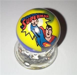 "A  Superman Collectible Blue Glass 1/"" Logo Marble"