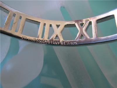 67e7294ee Tiffany & Co Atlas Cuff Roman Numeral Sterling Silver Bracelet on ...