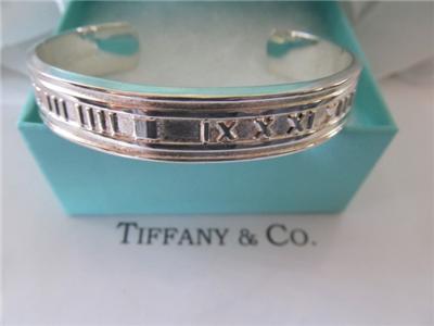 a6c1bee26 Vintage Estate Tiffany & Co. Atlas Roman Numerals Cuff Sterling Silver
