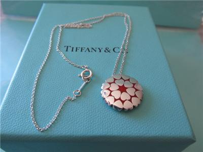 e6615b74f Tiffany & Co.Paloma Picasso Double Row Medium Red Enamel Crown of Hearts  Pendant/Necklace