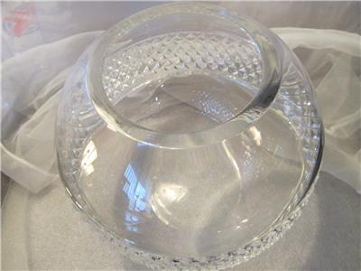 Tiffany Amp Co Crystal Diamond Cut Rose Bowl Vase 7 Ebay