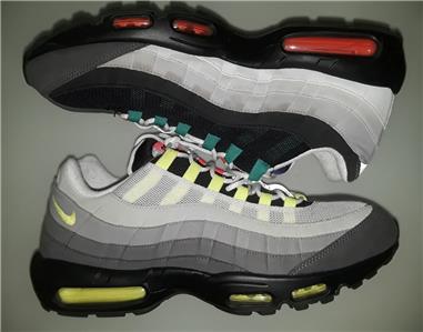 Men's Nike Air Max 95 OG QS Greedy Black Volt Safety Orange 810374 078 Boys Running Shoes 810374 078