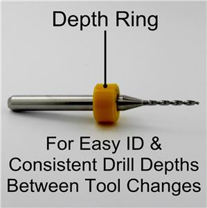 "0.90mm FIVE PIECES Carbide Drill Bits 1//8/"" shaft cnc 100.0354.400 .0354/"""