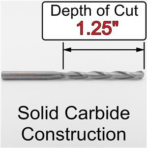 """Carbide Engraver CNC M207 1//8/"""" x 1.25 LOC /< Ball Nose /> End Mill *Five Pieces"""