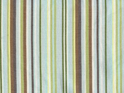 Curtain Valance Brooke Stripe Brown Yellow White Green