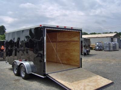 7x14 Plus 2ft V 16ft Inside Enclosed 2 Bike Cargo Motorcycle ATV Trailer New