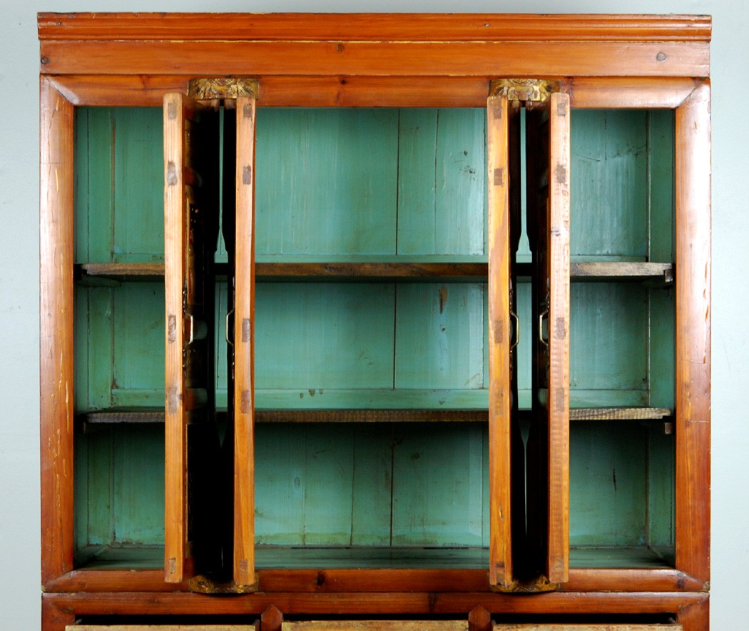 ANTIQUE KITCHEN PANTRY CABINET Fujian Chinese Chest