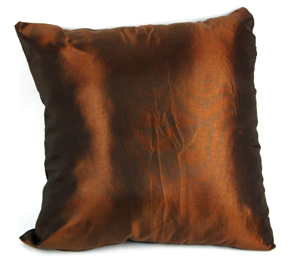 Silk Blend Brown Zebra Pillow Square Throw Modern Animal