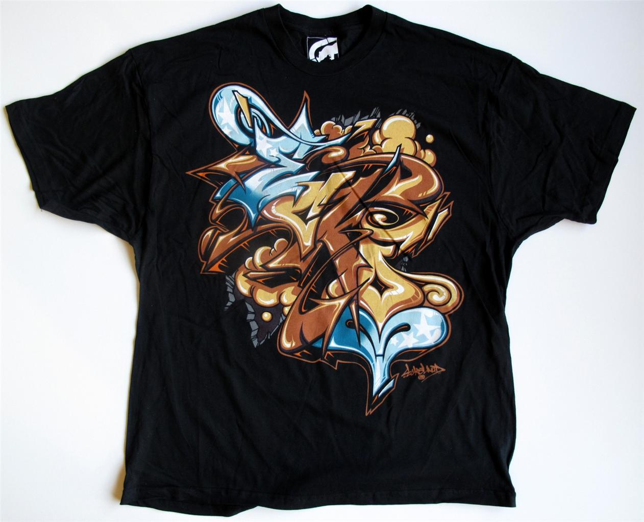 Ecko unltd black graffiti t shirt sizes m xl 2xl 3xl msrp 24 00