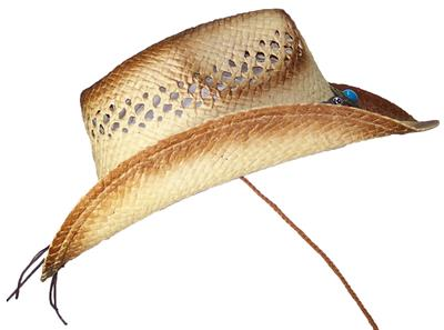 Tropic Hats Adult Paper Straw Cowboy Cowgirl Cap W Band   Buckle  1227 Brown 45246214fdd2