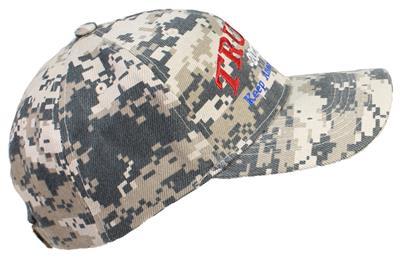 Tropic Hats Trump 2020 Keep America Great Cap #940 Woodland Camo W//RWB Thread
