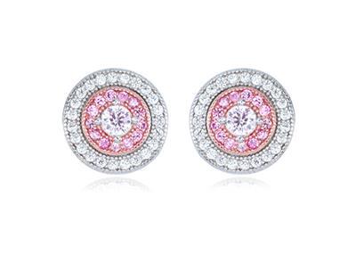 Ohrringe lange Silber Sterling 925 und Quarz rosa facettiert 10 mm Neu Design